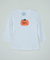 Princess Linens White Personalized Pumpkin Top - Infant, Toddler & Boys