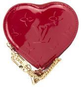 Louis Vuitton Pomme D'Amour Monogram Vernis Heart Coin Purse (Pre Owned)