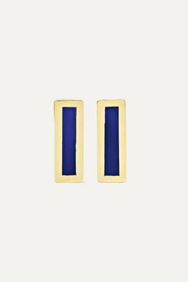 Jennifer Meyer 18-karat Gold Lapis Lazuli Earrings
