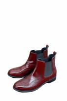 Portamento - Burgundy Lilian Patent Boots - 36 - Red