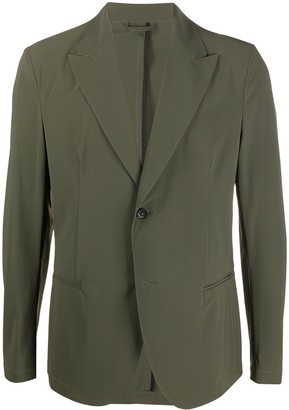 Hydrogen Peak Lapels Single-Breasted Blazer