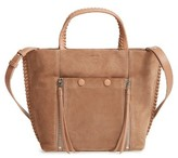 AllSaints Fleur De Lis East/west Suede Tote Small - Brown
