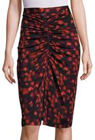 Givenchy Floral Printed Jersey Skirt