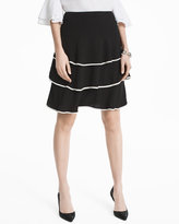White House Black Market Tiered Soft Skirt