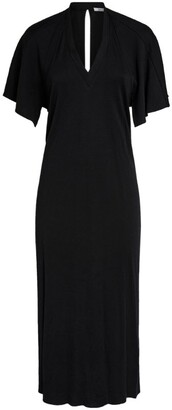 Deitas Reverse Cape Dress