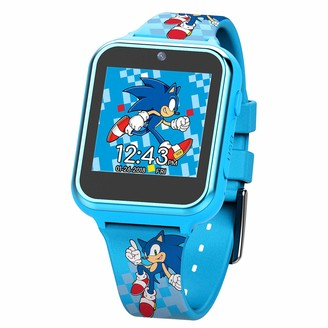 Sonic the Hedgehog Touch-Screen Smartwatch Built in Selfie-Camera Non-Toxic Easy-to-Buckle Strap