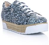 Kenzo Sneaky tiger stripe flatform trainers