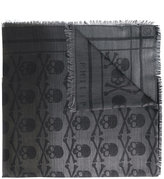 Philipp Plein skull print scarf - men - Silk/Modal/Wool - One Size