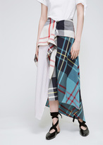 J.W.Anderson Plaid Patchwork Button Front Skirt