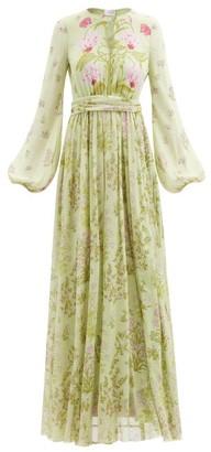 Giambattista Valli Floral-print Silk-georgette Gown - Green Print