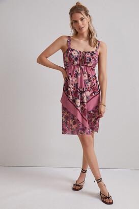 Anna Sui Rosette Mini Dress By Anna Sui in Purple Size 2