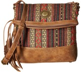 American West Serape Fold-Over Crossbody Cross Body Handbags