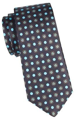Kiton Geometric Circle Silk Tie