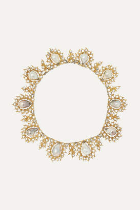 Buccellati 18-karat Yellow And White Gold, Pearl And Diamond Necklace