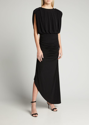 retrofete Florence Draped Long Dress