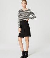 LOFT Petite Bi-Stretch Wrap Skirt