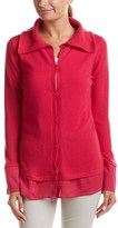 Escada Silk-trim Cashmere Cardigan.