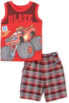 Children's Apparel Network Red Blaze & the Monster Machine Tank & Shorts - Toddler