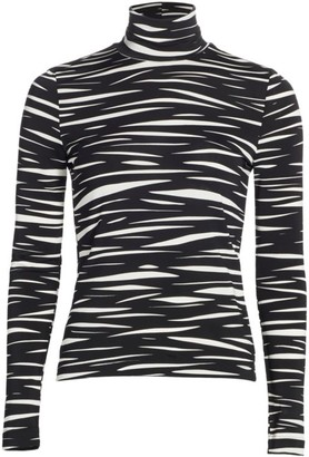 Stine Goya Anne Zebra Stripe Turtleneck