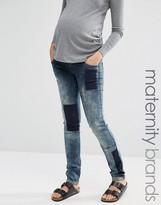 Mama Licious Mama.licious Mamalicious Patched Jeans