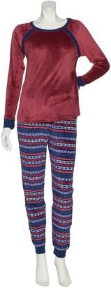 Cuddl Duds Petite Ultra Plush Velvet Fleece Pajama Set