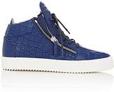 Giuseppe Zanotti Men's Double-Zip Mid-Top Sneakers-NAVY