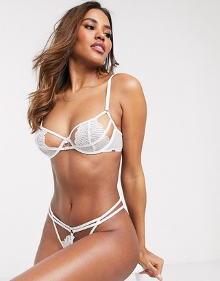 Bluebella Icena lace cut-out bra in white