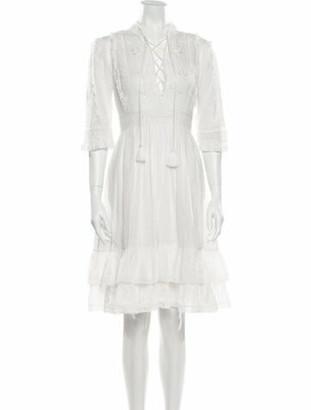 Ulla Johnson V-Neck Knee-Length Dress White