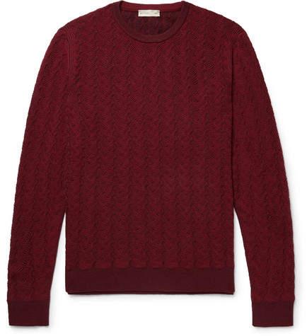 Etro Textured Mélange Wool Sweater