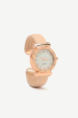 Ardene Faux Leather Cuff Bracelet Watch