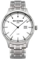 Ben Sherman Men's Quartz Watch with White Dial Analogue Display and Silver Stainless Steel Bracelet WB056SM