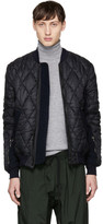 Tim Coppens Black Quilted Ma-1 Bomber