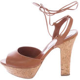 Sergio Rossi Wrap-Around Platform Sandals