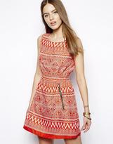 Iska Printed Dress with Zip Detail