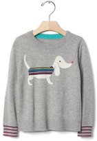 Gap Intarsia stripe dog sweater