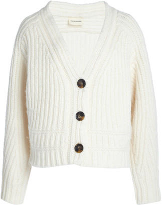 LOULOU STUDIO Corte Oversized Ribbed Wool-Blend Cardigan