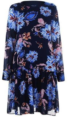 Gant Marine Paisley Chiffon Dress