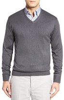 Peter Millar Silk Blend V-Neck Sweater