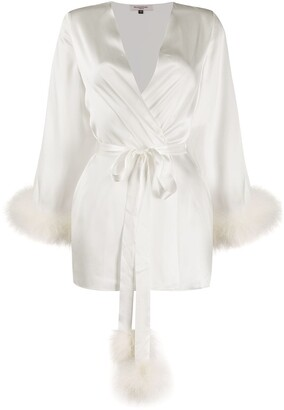 Gilda & Pearl Pillow Talk satin robe