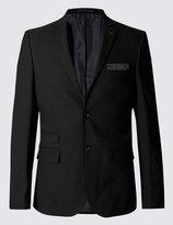 Marks And Spencer Black Textured Modern Slim Fit Suit