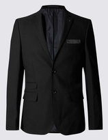 Marks And Spencer Black Textured Modern Slim Suit
