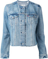 Levi's altered trucker jacket - women - Cotton - M