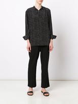 Jason Wu Polka Dot Silk 3/4 Sleeve Top