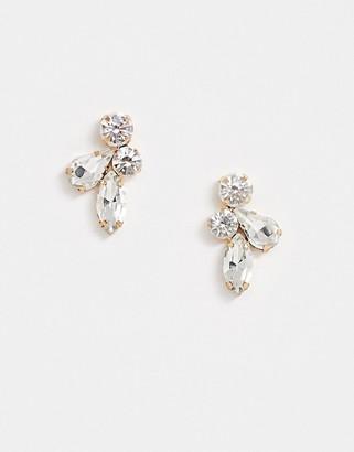 True Decadence stud earrings in crystal cluster