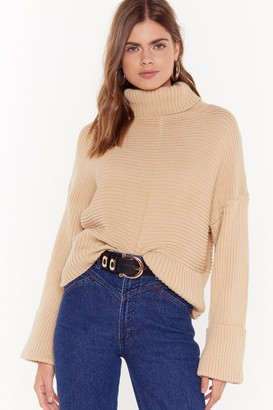 Nasty Gal Womens That's How We Roll Cable Knit Jumper - Black - S, Black