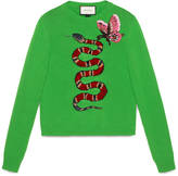 Gucci Merino wool embroidered top