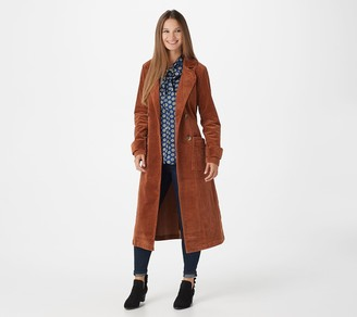 Laurie Felt Long Corduroy Trench Coat