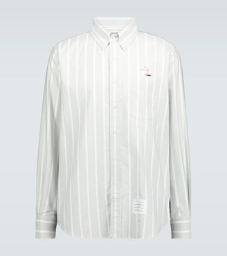 Thom Browne Baseball Icon striped Oxford shirt