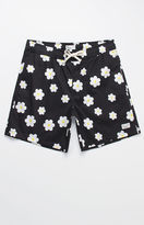 "Modern Amusement Lucca Daisy Print 18"" Swim Trunks"