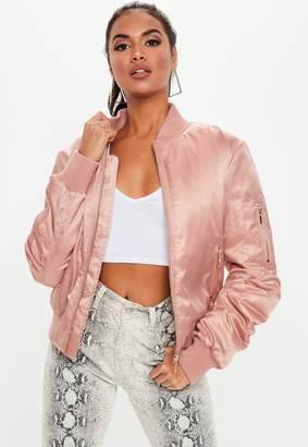 Missguided Pink Ultimate Ma1 Bomber Jacket
